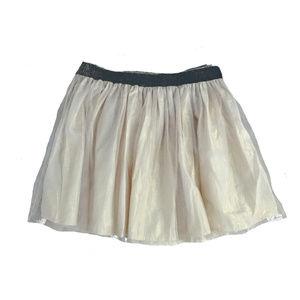 Shimmery Champagne & Gold Tulle Tutu Skirt - M / L